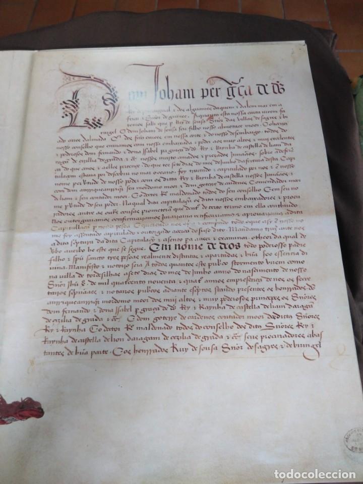 FACSÍMIL. TRATADO DE TORDESILHAS. OBRA CONMEMORATIVA DEL V ANIVERSARIO DEL REPARTO DEL MUNDO. 1994. (Libros de Segunda Mano - Historia Moderna)