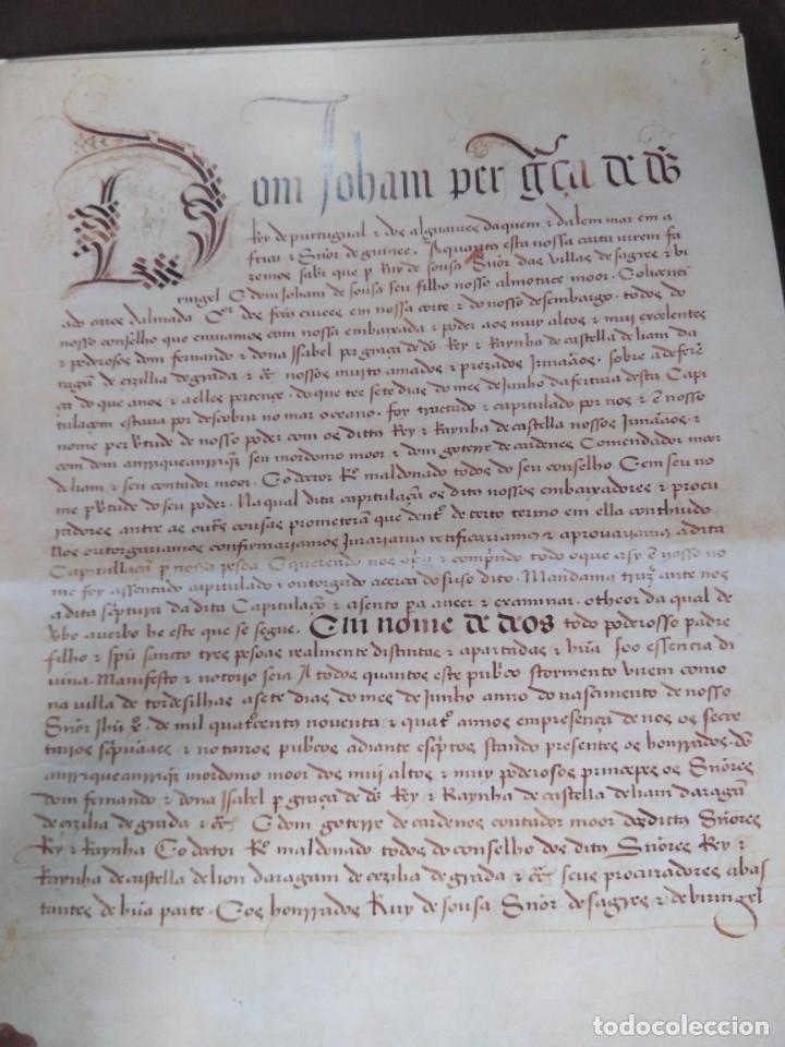 Libros de segunda mano: Facsímil. Tratado de Tordesilhas. Obra conmemorativa del V aniversario del reparto del mundo. 1994. - Foto 2 - 175590583