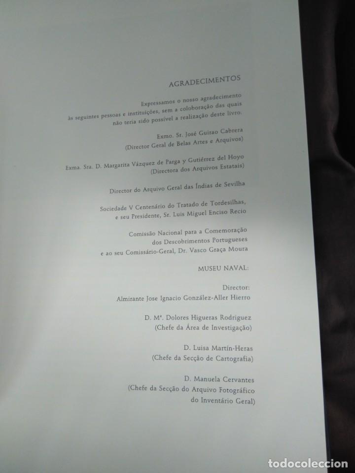 Libros de segunda mano: Facsímil. Tratado de Tordesilhas. Obra conmemorativa del V aniversario del reparto del mundo. 1994. - Foto 7 - 175590583
