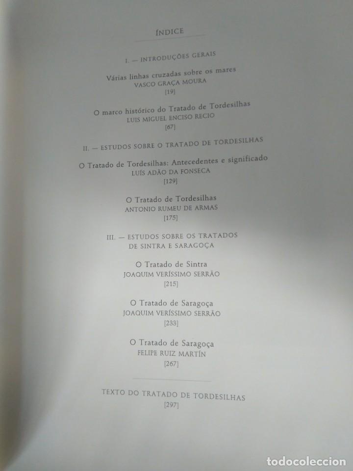 Libros de segunda mano: Facsímil. Tratado de Tordesilhas. Obra conmemorativa del V aniversario del reparto del mundo. 1994. - Foto 8 - 175590583