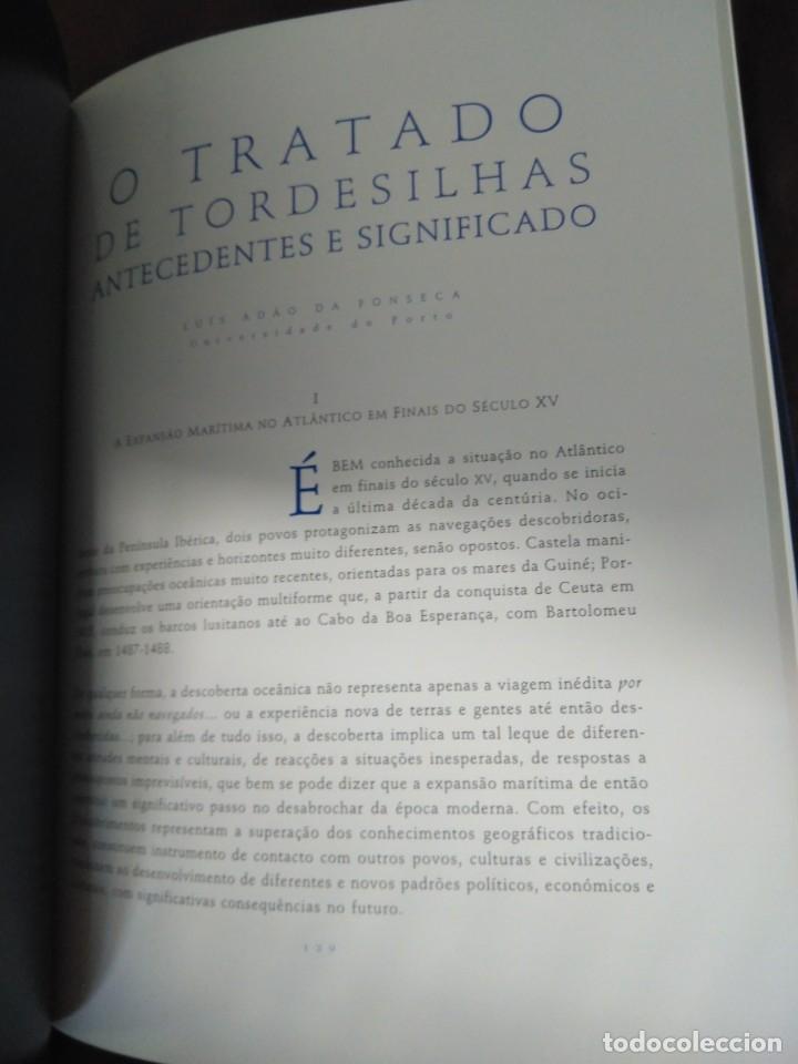 Libros de segunda mano: Facsímil. Tratado de Tordesilhas. Obra conmemorativa del V aniversario del reparto del mundo. 1994. - Foto 15 - 175590583
