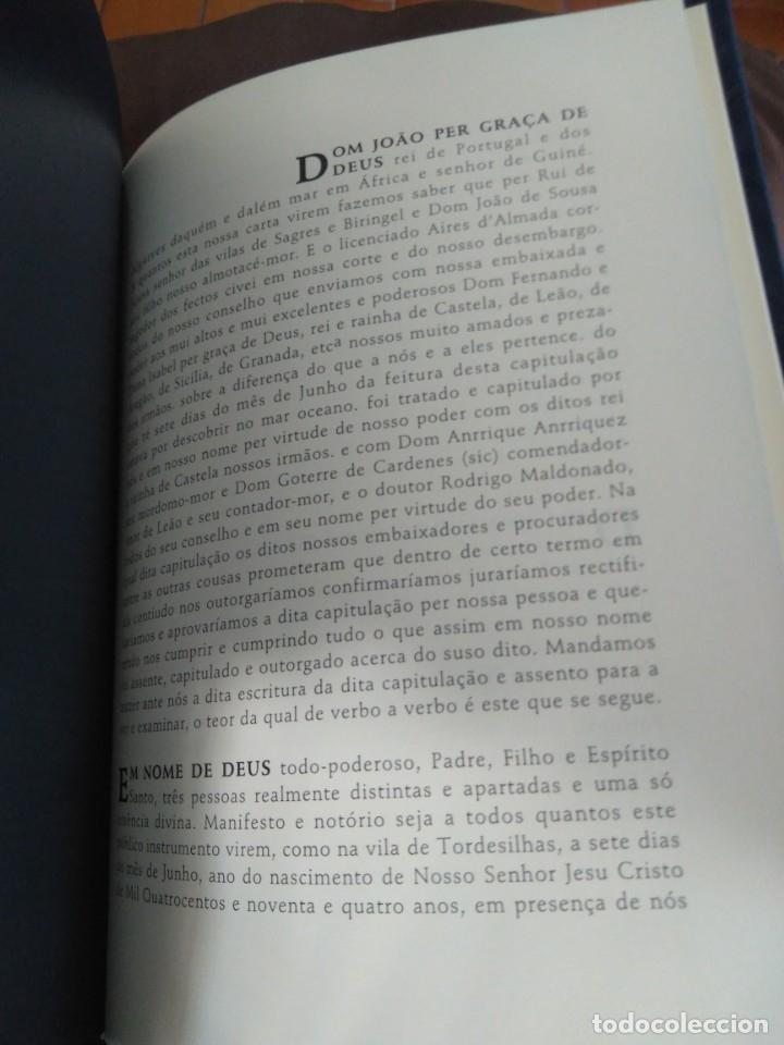 Libros de segunda mano: Facsímil. Tratado de Tordesilhas. Obra conmemorativa del V aniversario del reparto del mundo. 1994. - Foto 20 - 175590583
