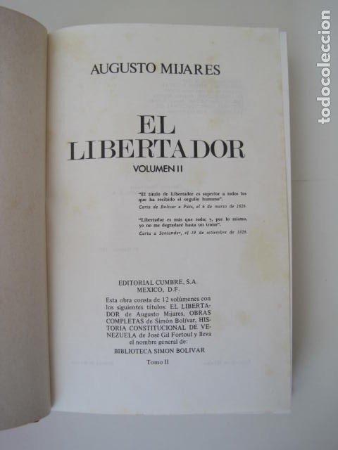 Libros de segunda mano: BIBLIOTECA SIMON BOLIVAR. COMPLETA, 12 TOMOS. AUGUSTO MIJARES Y JOSÉ GIL FORTOUL. 1977. - Foto 13 - 175679572