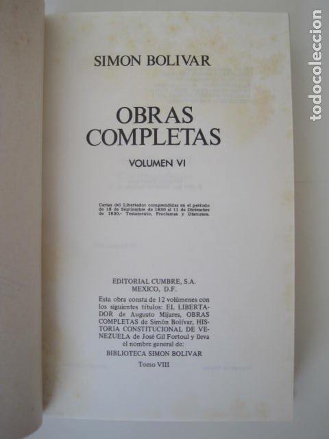 Libros de segunda mano: BIBLIOTECA SIMON BOLIVAR. COMPLETA, 12 TOMOS. AUGUSTO MIJARES Y JOSÉ GIL FORTOUL. 1977. - Foto 29 - 175679572