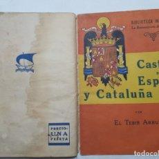 Libros de segunda mano: LIBRO -CASTILLA POR ESPAÑA Y CATALUÑA ROJA- BIBLIOTECA INFANTIL 1940. Lote 175879695