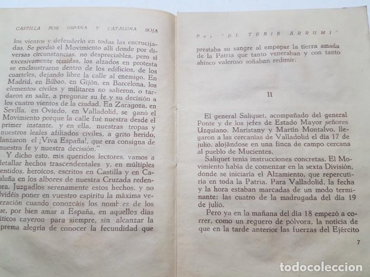 Libros de segunda mano: Libro -Castilla por España y Cataluña roja- Biblioteca infantil 1940 - Foto 3 - 175879695