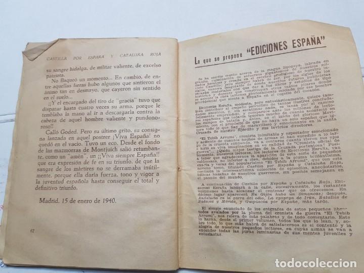 Libros de segunda mano: Libro -Castilla por España y Cataluña roja- Biblioteca infantil 1940 - Foto 4 - 175879695