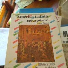 Libros de segunda mano: AMÉRICA LATINA, ÉPOCA COLONIAL, POR: GONZALO ZARAGOZA, 95 PÁG. BIBLIOTECA BÁSICA DE HISTORIA.. Lote 176118988