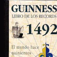 Livros em segunda mão: GUINNESS LIBRO DE LOS RECORDS 1492 JORDAN 1 EDICION 1992. Lote 176481645
