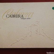 Libros de segunda mano: CABRERA. TIEMPO ATRÁS. Lote 176483425