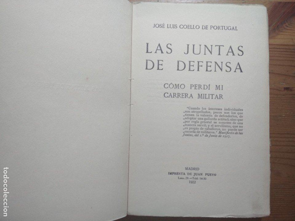 Libros de segunda mano: LAS JUNTAS DE DEFENSA (COMO PERDÍ MI CARRERA MILITAR) (ALFONSO XIII) - Foto 2 - 176942750
