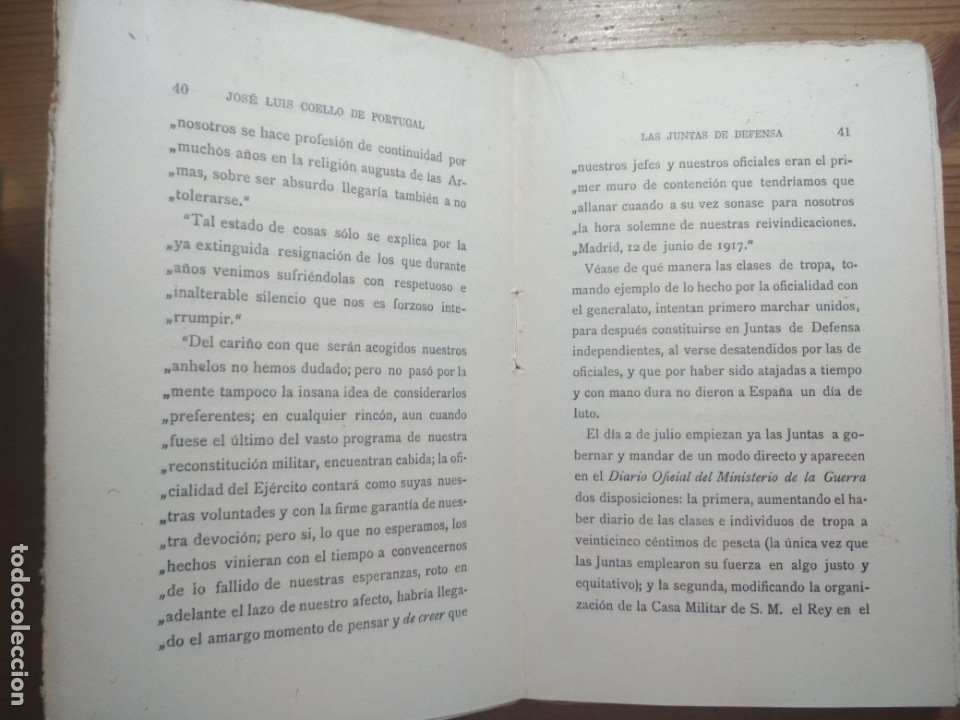 Libros de segunda mano: LAS JUNTAS DE DEFENSA (COMO PERDÍ MI CARRERA MILITAR) (ALFONSO XIII) - Foto 3 - 176942750