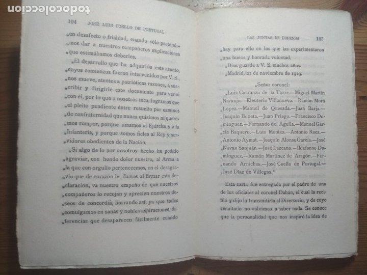Libros de segunda mano: LAS JUNTAS DE DEFENSA (COMO PERDÍ MI CARRERA MILITAR) (ALFONSO XIII) - Foto 4 - 176942750