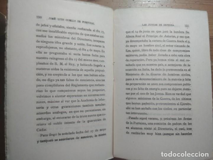 Libros de segunda mano: LAS JUNTAS DE DEFENSA (COMO PERDÍ MI CARRERA MILITAR) (ALFONSO XIII) - Foto 5 - 176942750