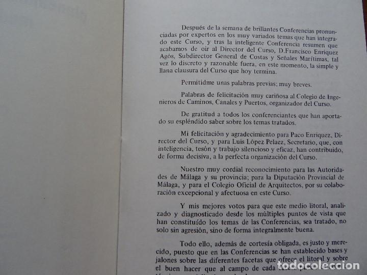 Libros de segunda mano: Curso de analisis, planeamiento y gestión del medio litoral, clausura, Marciano Martínez, 12 pags - Foto 2 - 178363575