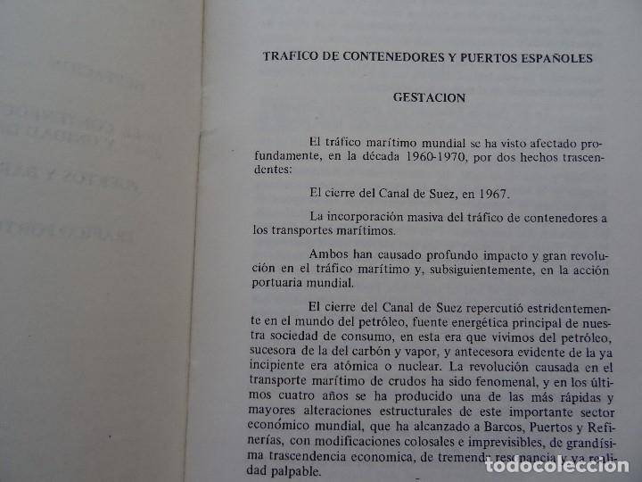 Libros de segunda mano: trafico de contenedores y puertos españoles Marciano Martínez, 26 pags - Foto 3 - 178363951