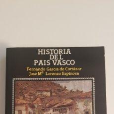 Libros de segunda mano: HISTORIA DEL PAIS VASCO - FERNANDO GARCÍA DE CORTAZAR Y JOSE MARIA LORENZO ESPINOSA. Lote 178789690