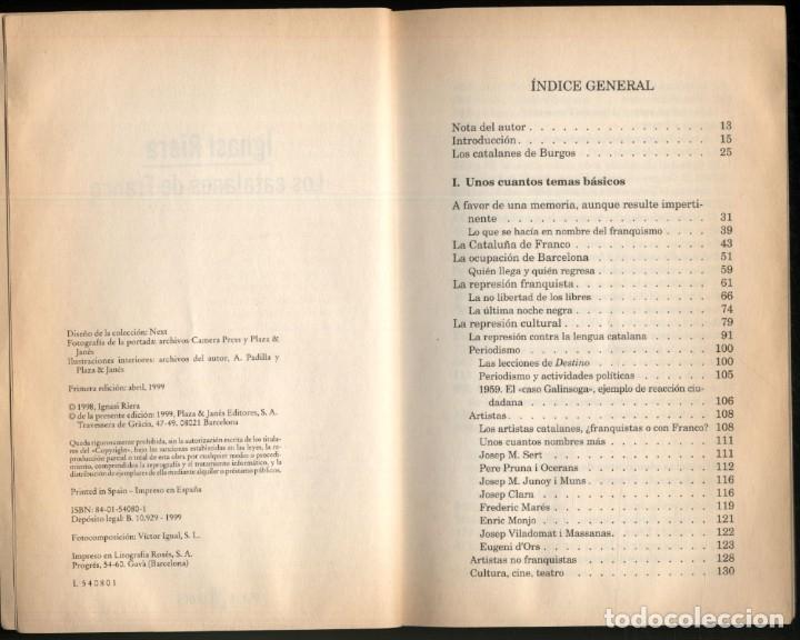 Libros de segunda mano: LOS CATALANES DE FRANCO .- Ignasi Riera - Foto 3 - 179034501