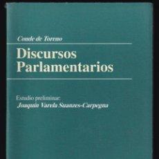 Libros de segunda mano: CONDE DE TORENO: DISCURSOS PARLAMENTARIOS. OVIEDO, 2003. ASTURIAS. . Lote 179163988