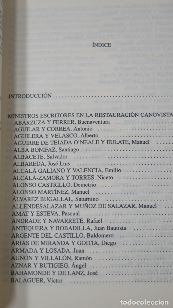 Libros de segunda mano: L COMPROMISO INTELECTUAL DEL POLITICO. MINISTROS ESCRITORES EN LA RESTAURACION CANOVISTA - Foto 2 - 180108805
