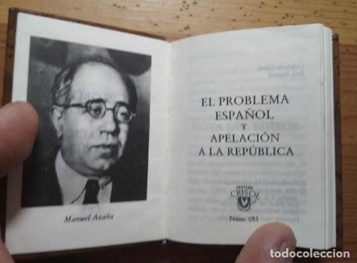 Libros de segunda mano: EL PROBLEMA ESPAÑOL - MANUEL AZAÑA - COLECCIÓN. CRISOL - Foto 3 - 180207127