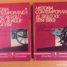 Libros de segunda mano: HISTORIA CONTEMPORÁNEA. / ALAMBRA UNIVERSIDAD. 1982 / TOMO I SUBRAYADOS. Lote 181596033