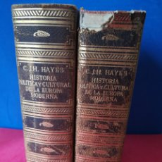 Libros de segunda mano: HISTORIA POLÍTICA Y CULTURAL DE LA EUROPA MODERNA / OBRA COMPLETA EN 2 VOLS/ C.J.H. HAYES, 1964. Lote 181893402