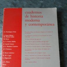 Libros de segunda mano: CUADERNOS DE HISTORIA MODERNA Y CONTEMPORÁNEA. NÚMERO 2 - 1981.. Lote 182690336