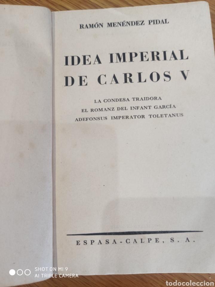 Libros de segunda mano: Idea imperial de Carlos V - Foto 3 - 182757356