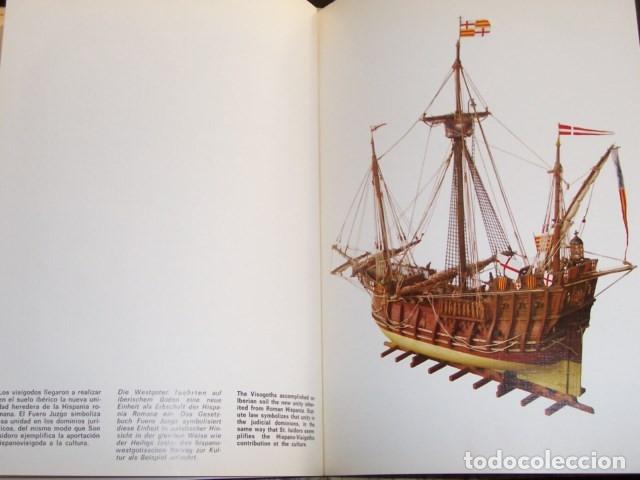 Libros de segunda mano: Destellos de la historia de España (Braun 1971). 17 laminas color, texto 3 idiomas - Foto 4 - 183229348
