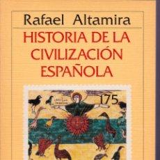Libros de segunda mano: HISTORIA DE LA CIVILIZACIÓN ESPAÑOLA - ALTAMIRA. Lote 183307342
