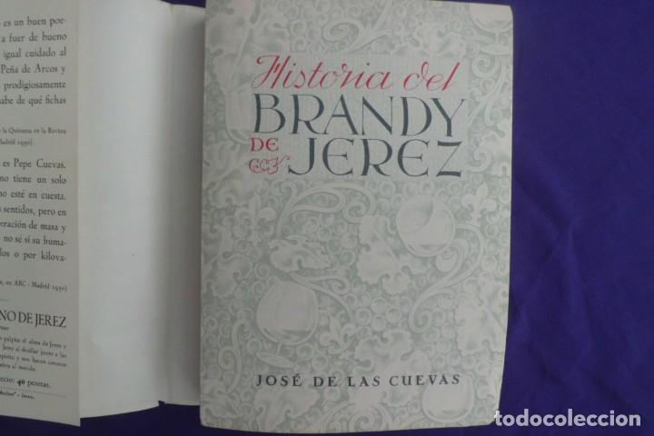 HISTORIA DEL BRANDY DE JEREZ, JOSE DE LAS CUEVAS, 1.952 (Libros de Segunda Mano - Historia Moderna)