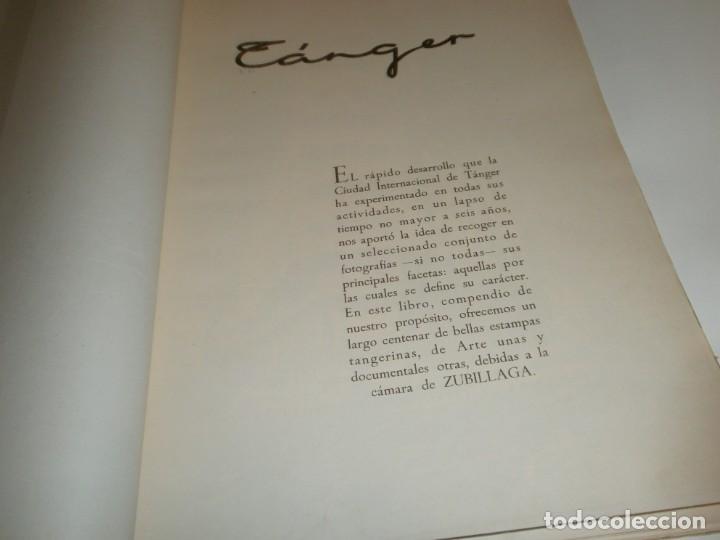 Libros de segunda mano: Tanger 1951 Proyecto e ilustraciones Zubillaga Artes Gráficas Martorell - Madrid Ejemplar 591 - Foto 3 - 183516392