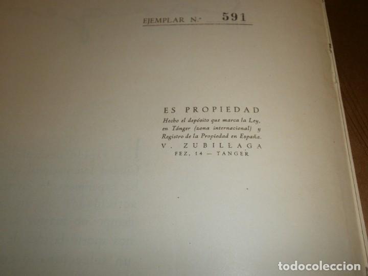 Libros de segunda mano: Tanger 1951 Proyecto e ilustraciones Zubillaga Artes Gráficas Martorell - Madrid Ejemplar 591 - Foto 5 - 183516392