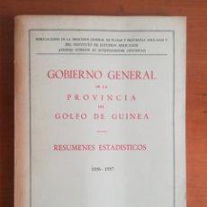 Libros de segunda mano: GOBIERNO GENERAL DE LA PROVÍNCIA DEL GOLFO DE GUINEA 1956-1957 - FERNANDO POO - COLONIAS. Lote 183620930