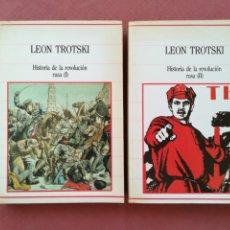 Libros de segunda mano: HISTORIA DE LA REVOLUCIÓN RUSA - LEON TROTSKI - 2 TOMOS - SARPE. Lote 183905423