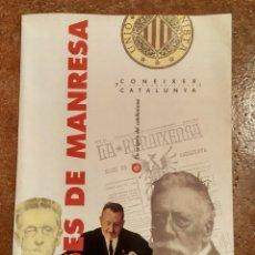 Libros de segunda mano: FOLLETO DESPLEGABLE BASES DE MANRESA - CONÈIXER CATALUNYA 1992. Lote 184252356