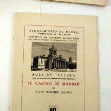 Libros de segunda mano: EL CASINO DE MADRID, D. JOSÉ MONTERO ALONSO. Lote 184652652