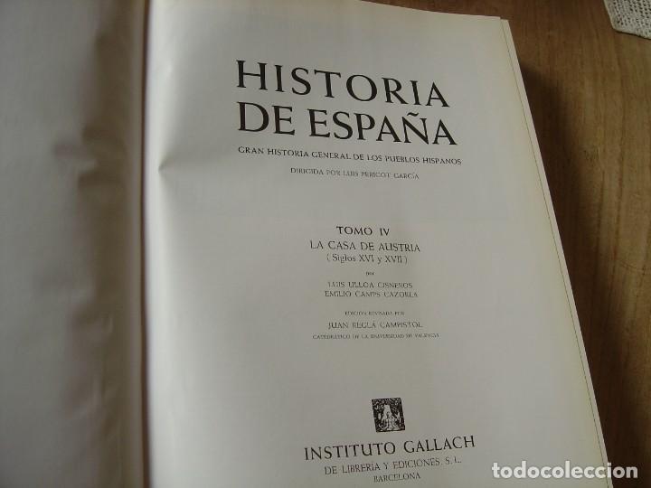 Libros de segunda mano: HISTORIA DE ESPAÑA. TOMO IV. LA CASA DE AUSTRIA. CARLOS SECO SERRANO. 1979 - Foto 5 - 184172788