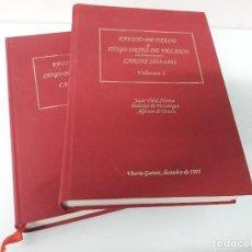 Libros de segunda mano: FAUSTO DE OTAZU A IÑIGO ORTÉS DE VELASCO - CARTAS 1834-1841 - 2 TOMOS - VITORIA-GASTEIZ - 1995. Lote 185746861