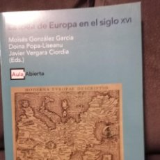 Libros de segunda mano: LA IDEA DE EUROPA EN EL SIGLO XVI. Lote 187221518