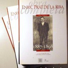 Libros de segunda mano: PRAT DE LA RIBA, ENRIC - OBRA COMPLETA (3 VOL. - COMPLET) - BARCELONA 1998. Lote 187318940