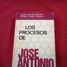Libros de segunda mano: FALANGE. LOS PROCESOS DE JOSE ANTONIO. AGUSTIN DEL RIO CISNEROS. ENRIQUE PAVON PEREYRA. Lote 188459398