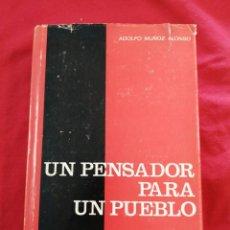 Libros de segunda mano: FALANGE. UN PENSADOR PARA UN PUEBLO. ADOLFO MUÑOZ ALONSO. Lote 188460392