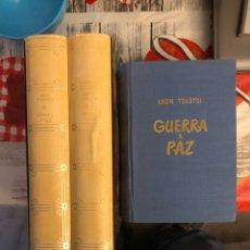 Libros de segunda mano: LOTE DE 3 LIBROS GUERRA Y PAZ LEON TOLSTOI. Lote 188758041