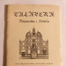 Libros de segunda mano: TALAVERA MONUMENTOS E HISTORIA . DOCE DIBUJOS DE ÁNGEL CASTELLANOS Y 3 LÁMINAS DE TEXTOS.... TOLEDO. Lote 190555658