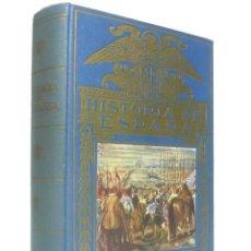 Libros de segunda mano: 1958 - HISTORIA ILUSTRADA ESPAÑA - 419 GRABADOS - DECORATIVA ENCUADERNACIÓN - H.ª ANTIGUA Y MODERNA. Lote 190599542