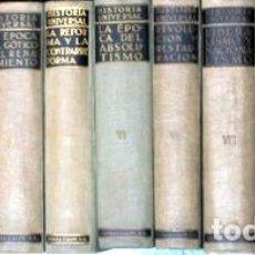 Libros de segunda mano: GOETZ, WALTER - HISTORIA UNIVERSAL (11 VOL. - COMPLETO) - MADRID 1932-1976. Lote 190802231