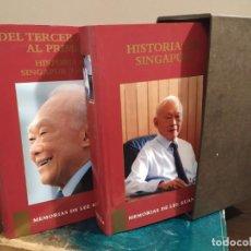 Libros de segunda mano: MEMORIAS DE LEE KUAN YEN - HISTORIAS DE SINGAPUR TOMO I Y II. Lote 218307412