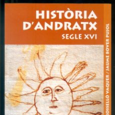 Libros de segunda mano: NUMULITE L1227 HISTÒRIA D'ANTRAX SEGLE XVI RAMON ROSSELLÓ VAQUER / JAUME BOVER PUJOL . Lote 194238208
